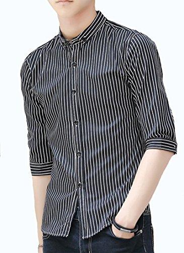 ITrustit ワイシャツ メンズ 形態安定 メンズ シャツ 七分袖 ボタンダウン ワイシャツ トップス スリム ビジネス カジュアル 441