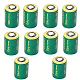 IORMAN 10-Pack Universal 3V 800mAh CR2 Rechargeable Lithium Batteries