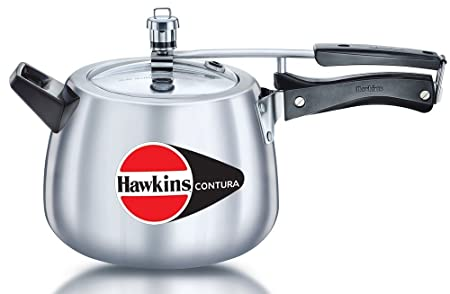 Hawkins Contura Pressure Cooker, 6.5 Litres Pressure Cookers at amazon
