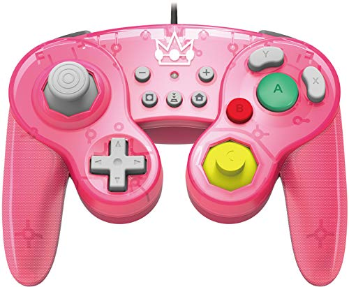 HORI Nintendo Switch Battle Pad (Peach) GameCube Style Controller Officially Licensed By Nintendo - Nintendo Switch (Controller Grip Gamecube)