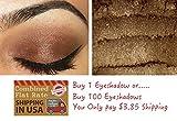 "Mineral Eyeshadow - ""Espresso"" - L.A. Minerals Brown Shimmer Eyeshadow Made in USA - no Talc or Bismuth"