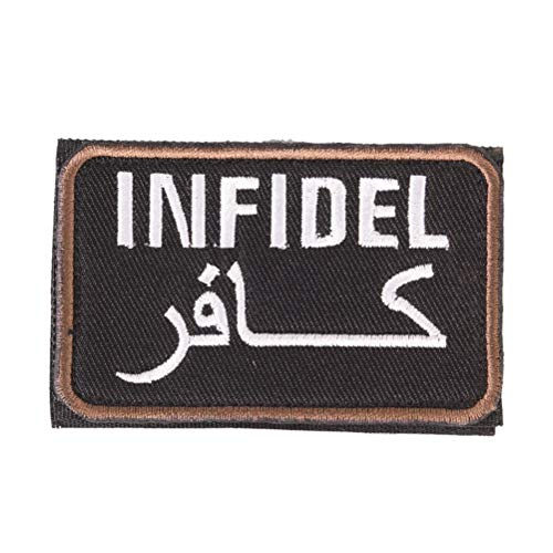 Mag Armor Case (Infidel - 8cmx5cm Clothing Armband Bag Cap Patches Infidel Letter Logo Embroidered Badges Military Army - Ultra Arabic Phone Coffee Armor Holster Guide Shirt Strong Lanyard Magnetic Army Le)