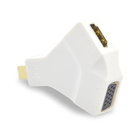 VAlinks Mini DisplayPort a HDMI + VGA y adaptador convertidor para ...