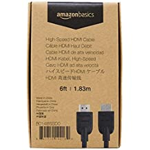 AmazonBasics High-Speed HDMI Cable, 6 Feet, 1-Pack