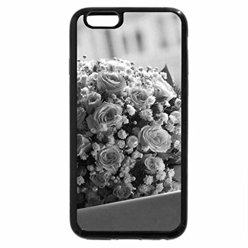 iPhone 6S Case, iPhone 6 Case (Black & White) - Flower and ring