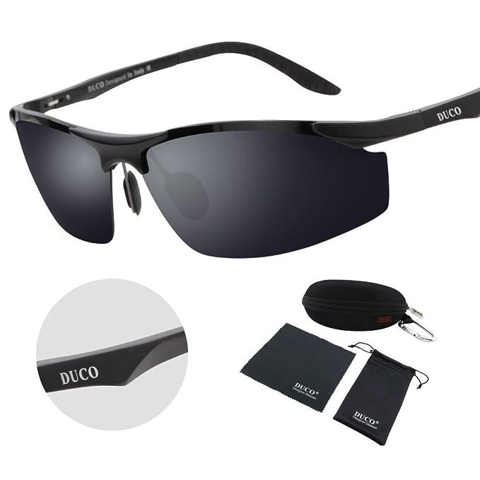 1411d68195 Duco Men s Driving Sunglasses Polarized Glasses Sports Eyewear Fishing Golf  Goggles 8179S Black