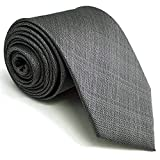 """Shlax&Wing Solid Color Grey Mens Neckties Ties Business Suit XL 63"""" 57.5"""" Classic"""