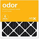AIRx ODOR 20x20x1 MERV 8 Carbon Pleated Air Filter - Made in the USA - Box of 6
