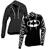 Reversible Batman Juniors Zip Up Hoody L