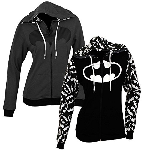 DC Comics Reversible Batman Juniors Zip Up Hoody M