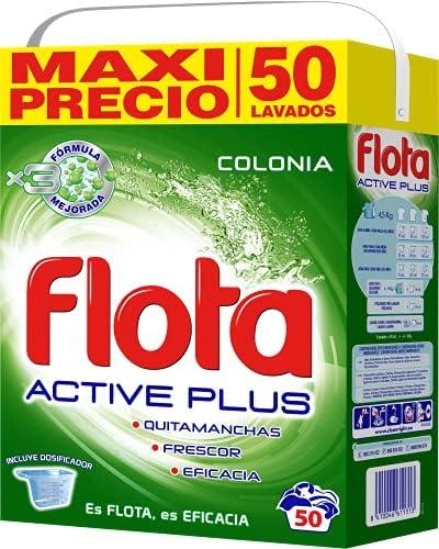 Flota Wasmiddelpoeder Active Plus Eau de toilette koffer voor 50 gerechten