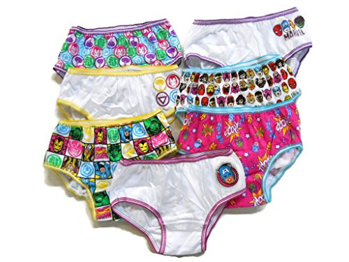 Marvel Comics Girls Hipster Panties 7 Pack Avengers Hulk Ironman Captain - Hipster Comics