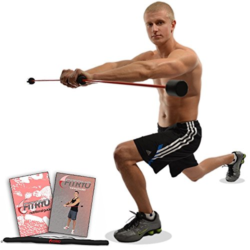 Total Bar | Exercise Bar and Shoulder Rehabilitation Equipment | Includes Carrying Case, Nutrition Booklet, and Workout Booklet