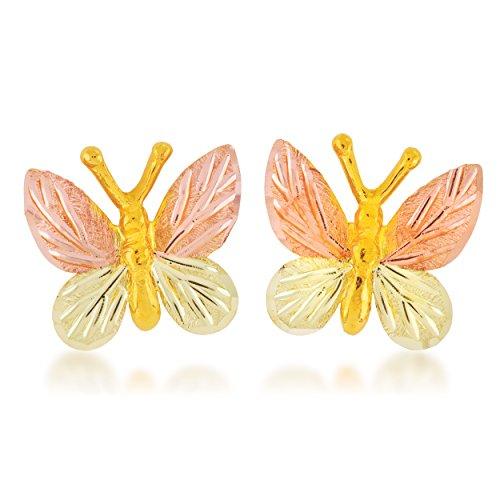 Black Hills Gold Butterfly Earrings (Black Hills Gold Butterfly Earrings)