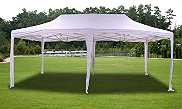 New White Deluxe EZ up Canopy Pop Up Tent 20u0027 X 10u0027 Gazebo Sun & Amazon.com : New White Deluxe EZ up Canopy Pop Up Tent 20u0027 X 10 ...