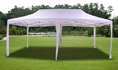 Amazon.com  New White Deluxe EZ up Canopy Pop Up Tent 20u0027 X 10u0027 Gazebo Sun Shade  Garden u0026 Outdoor : 20x10 canopy tent - memphite.com