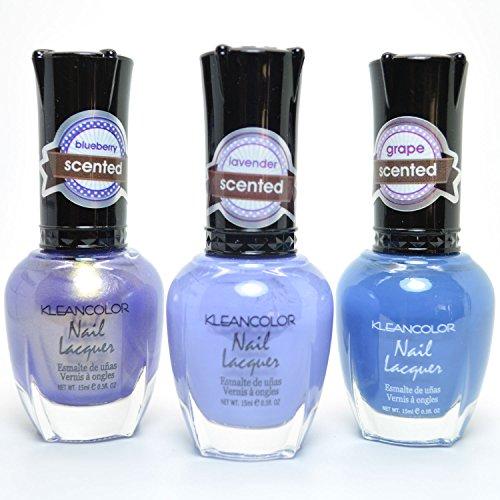 (3 Kleancolor Bset Seller Nail Polish Lacquer Manicure Set + Free Earring (3SET35))
