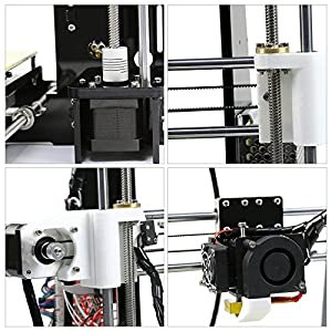 Orion Motor Tech Upgraded Desktop 3D Printer with MK8 Extruder Dual Air Vents Windows Mac Linux Compatible by Orion Motor Tech