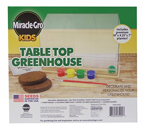 Superior Miracle Gro Kids Tabletop Greenhouse Kit