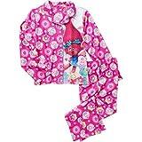 Trolls Poppy Pink Pajama Set for Girls (L, Pink)