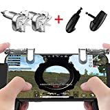 Mobile Game Controller[Upgrade Version] VISION SPORTS Sensitive Shoot and Aim Keys L1R1 and Gamepad for PUBG/Fortnite /Knives Out/Rules of Survival, Mobile Gaming Joysticks for Phones(1Pair+1Gamepad)