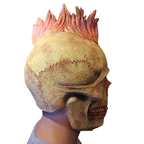 Punk Style Mask Melting Face Adult Latex Costume Walking Dead Halloween -