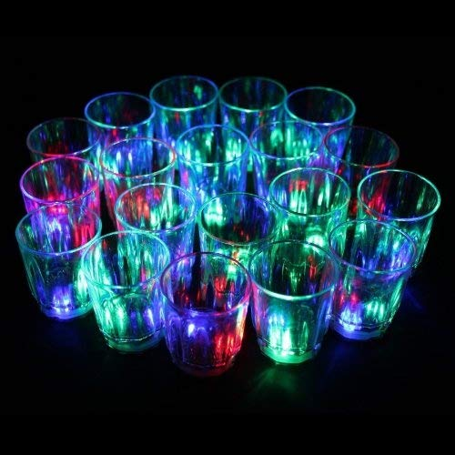 LED-Cube® 24 Flash Light Up Cups Flashing Shots Light 24 LED Bar Night Club Party Drink by LED-Cube (Image #1)