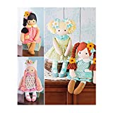 Simplicity Stuffed Doll with Clothes Art and Craft