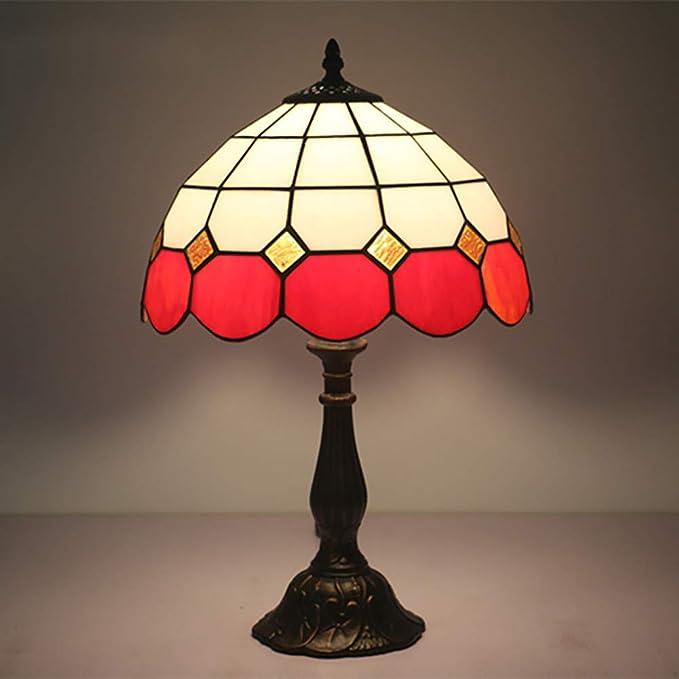 Amazon.com: Lámpara de mesa estilo Tiffany, estilo ...