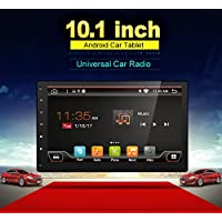 2G 32G High Resolution:1024600 Android 6.0 Quad-Core 10.1 Full Big-screen Universal Car GPS 2 din Stereo Navigation support Bluetooth Wifi OBD DBA Subwoofer Mirror Link free Camera(NO DVD CD player)
