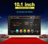 Android 6.0 2G 32G High Resolution:1024600 Quad-Core 10.1'' Full Big-screen Universal Car GPS 2 din Stereo Navigation support Bluetooth Wifi OBD DBA Subwoofer Mirror Link free Camera(NO DVD CD player)
