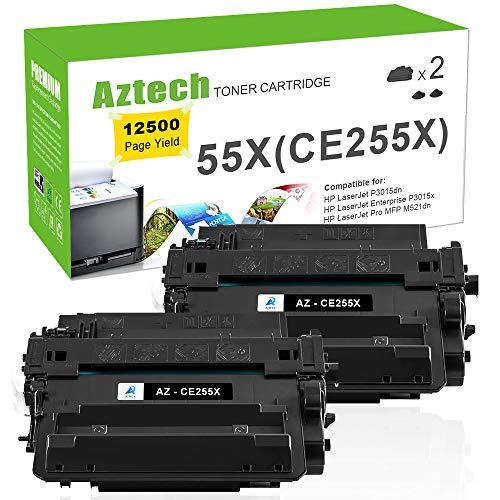 255A Toner Compatible HP 55X CE255X Toner Cartridge For HP LaserJet P3015dn P3010 HP LaserJet P3015x P3015 P3015d P3015n HP Laserjet Pro 500 MFP M521dn M521dw M525dn M525f Printer ()