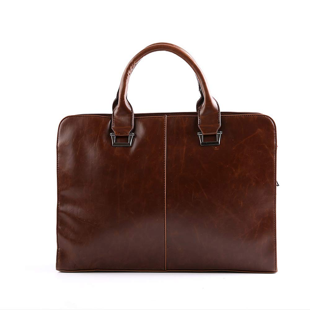 Laptop Briefcase Handbag For Men Genuine Cow Leather Travel Bag