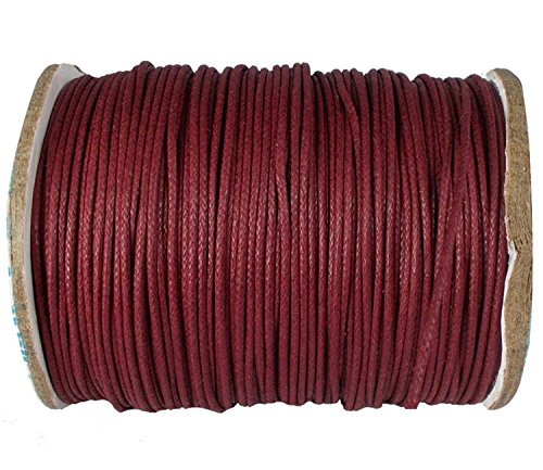 Cotton Corduroys Vintage (Jewelry Making Cotton Wax Corduroy DIY Bracelet Necklace Knitting Crafting Beading Maroon 1 mm Cord Craft String 1 Roll Thread {527})