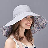 Hats Sun Hat/Sun Hat/Women Summer Outdoor Folding Large Hat/Anti-UV Beach Beach Fisherman Sun Hat (Color : Light Blue, Size : L)
