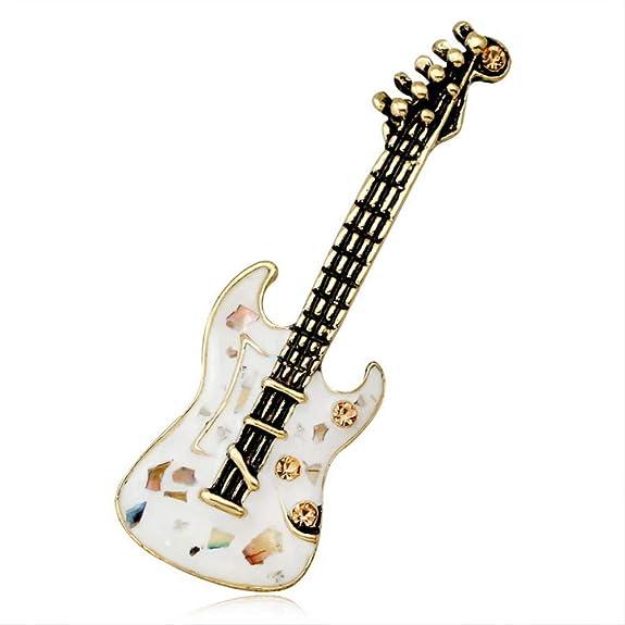 Zdfdfshj Concha Blanca Guitarra Broche Instrumento Musical Notas ...