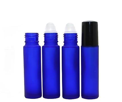 fbccb55c9e2b Amazon.com: 6PCS 10ml 0.34oz Empty Refillable Blue Glass Perfumes ...