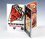 Displays2go Tabletop Holder, 3-Sided, Pizza Restaurant Table Menu, 4'' x 6'', Set of 50, Clear (SPINDLE46)