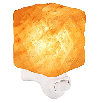 GRDE Salt Lamps Himalayan Natural Crystal Rock Salt Stone Lamp Night Light with Cordless Holder ...