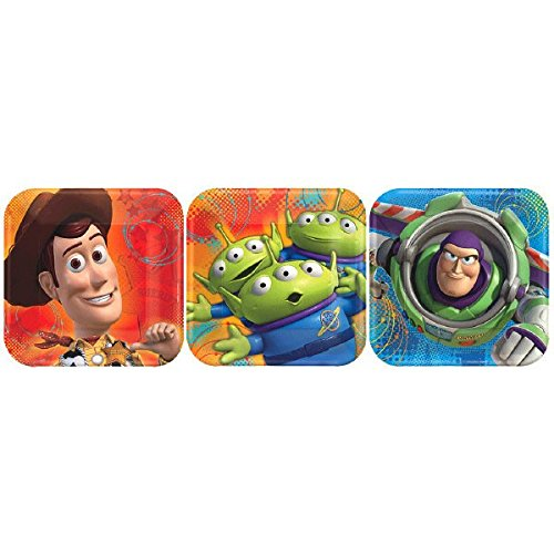 American Greetings Toy Story 3 Assorted Square Plate (8 Count), 7