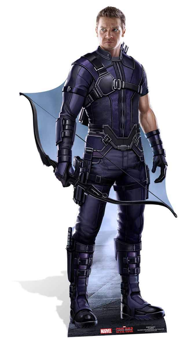Star Cutouts Official Marvel Avengers Movie Lifesize Cardboard Cut Out of Clint Barton/ Hawkeye (Jeremy Renner) 176cm Tall 83cm Wide.