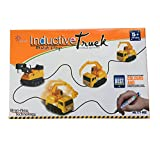 Autrix Inductive Toy Magic Mini Excavator Construction Truck Follow Any Drawn Line by Marker Pen with Battery Included