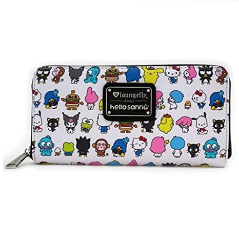 23b76612d Image Unavailable. Image not available for. Color: Loungefly Hello Kitty  Sanrio Character Print Zip-Around Wallet