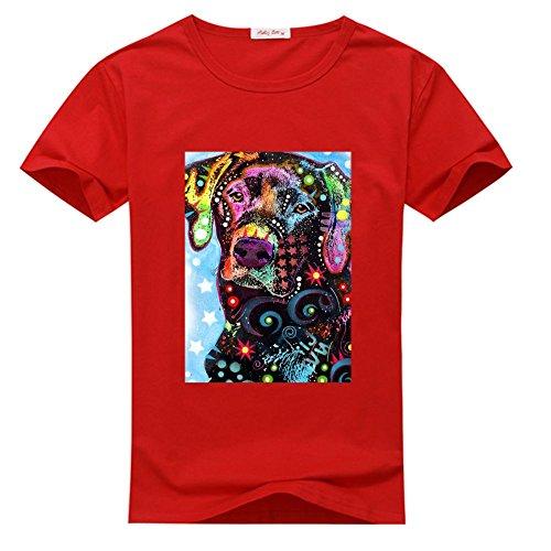 Colorful Labrador Tee Shirt T-shirt Tshirt, Personalized Tee Shirts for Men
