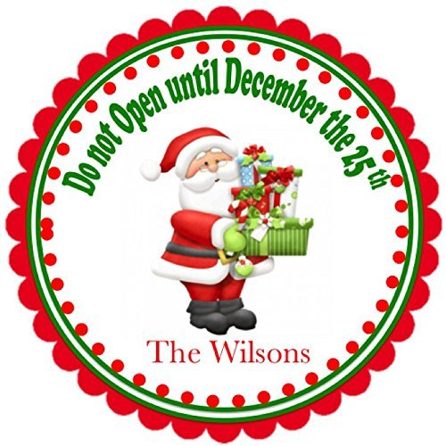 amazon com 40 personalized santa s christmas gifts labels gift