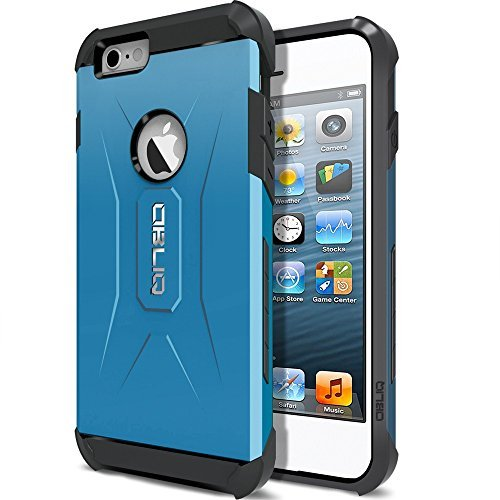 iPhone 6S Case, OBLIQ [Xtreme Pro][Metallic Blue] Hybrid Rugged Dual Layered All-Around Shock Slim Resistant TPU Armor Shock Resistant Case for Apple iPhone 6S (2015) & iPhone 6 (2014)