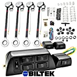 FULL COMPLETE CAR TRUCK 4 WINDOW AUTOMATIC POWER KIT WITH 7 SWITCHES KIT
