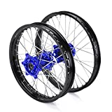 ANUESN Front 21'' Rear 19'' Complete Wheel Set Blue Hub Fit Yamaha YZF 250 450 YZ250/450F