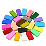 coffled ® 24 PCS Colorful Fimo Effect Polymer Clay Blocks Soft