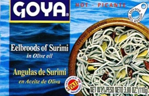 Goya Eelbroods of Surimi, 3.88-Ounce Unit (Pack of ()